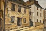 069. Casas aranesas. Oleo/tela. (55x46)10F. 2000. Bossot. Vall d'Arán