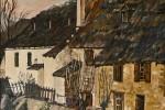 075. Casas Arties. Oleo/tela. (55x46)10F. 2001. Vall d'Arán