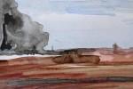 800-07. Tiras x 9. Tinta. (32/22). 2012. Abstracción