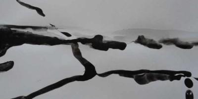 800-02. Tiras x 9. Tinta. (32/22). 2012. Abstracción