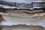 800-01. Tiras x 9. Tinta. (32/22). 2012. Abstracción