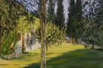 064 - Luz Mediterránea. Cipreses. Oleo/tela. 20F. 1999. Mas