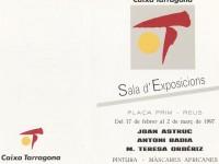 Exposición Sala Caixa Tarragona, Reus. Febrero 1997