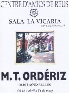Exposición La Vicaria, Reus. Abril 1997