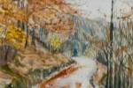 266. Paisajes Otoño. Artiga de Lin. Aquarelas/papel. (32x22). 2000. Vall d'Arán