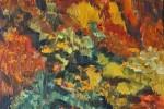 635. Paisajes Otoño. Bosque Otoñal. Oleo. (55x33). 2011. Vall d'Arán