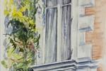 583 - Puertas y Ventanas. Ventana Glicina. Acuarela/papel. (24x16). 2009. La Rochele